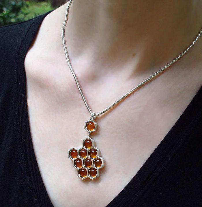 honeycomb jewelry <3