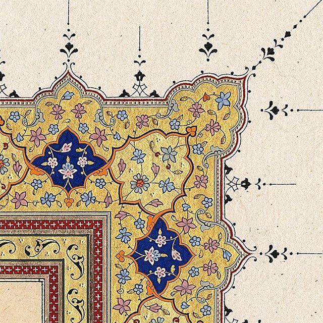 Tezhib detay Fatma Özçay #tezhip #illumination #ottoman #sanat #art #islamicart #tasarım #tezhipsanatı ...