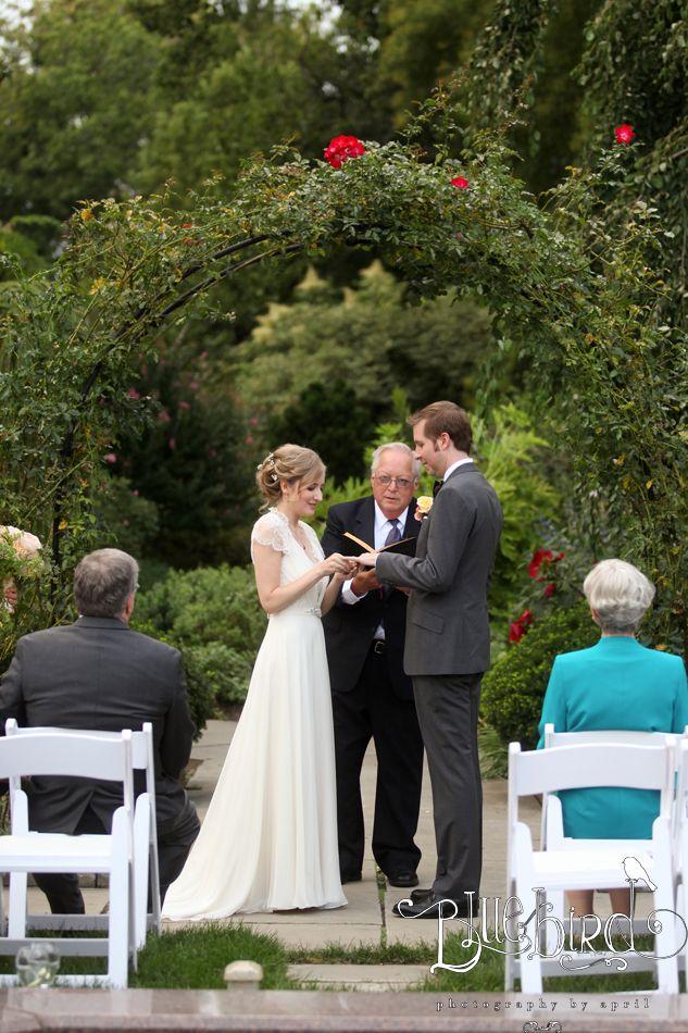 Wedding Ceremony At Cleveland Botanical Gardens Photography By Bluebird