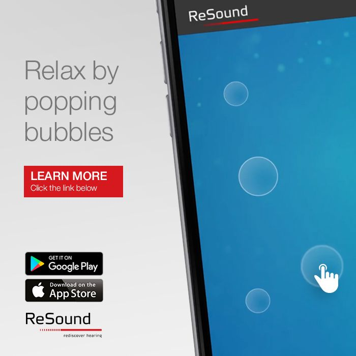 Anyone with tinnitus can benefit from the ReSound ReliefTM app as part of a tinnitus management program. It offers a combination of sound therapy and relaxing exercises that aim to distract you from focusing on your tinnitus.   Visit resound.com/en-AU/hearing-aids/apps/relief-app