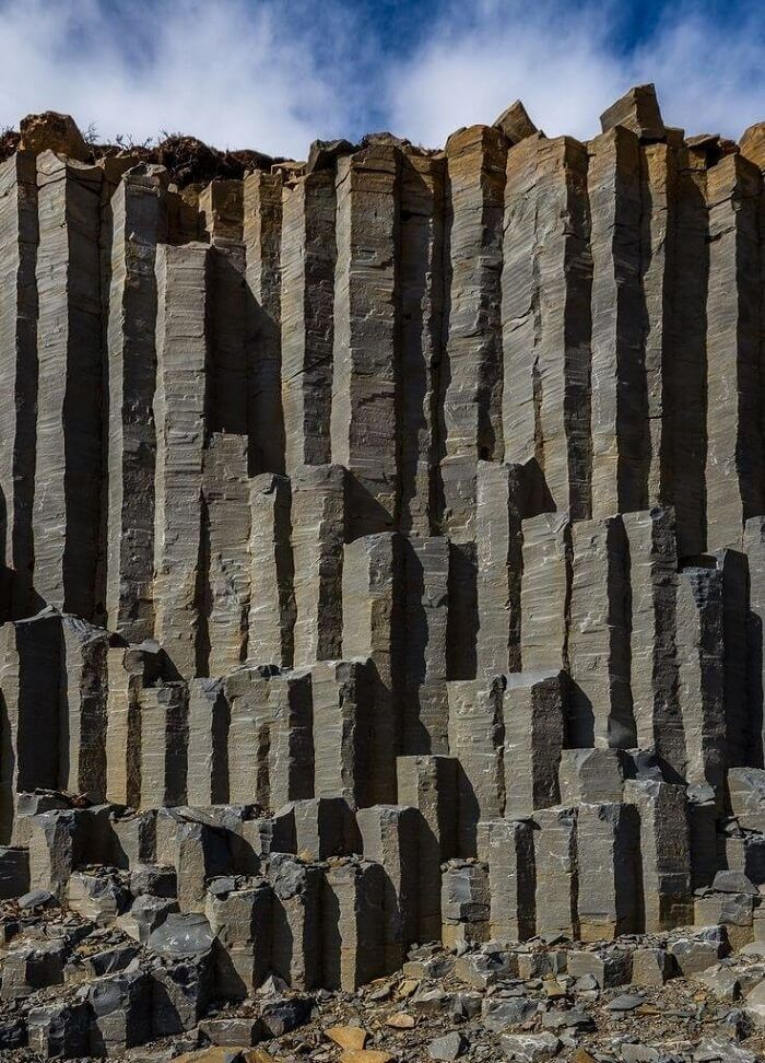 Basalt columns, The Wall, Iceland. See more at http://glamshelf.com