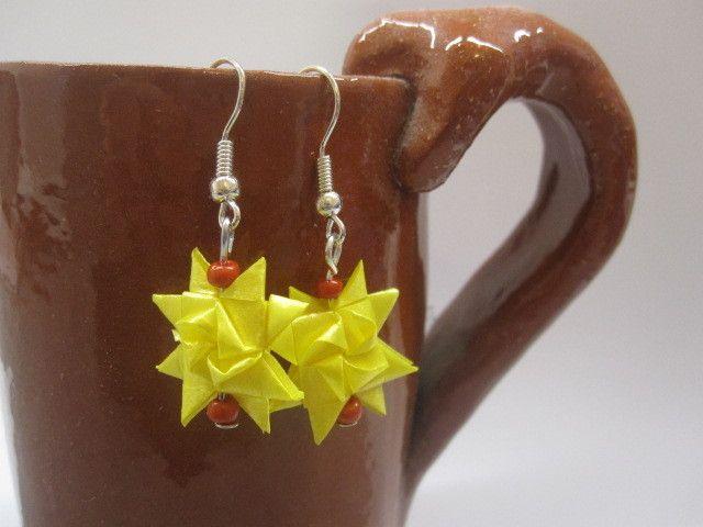 Fröbelstern-Ohrringe von Behrenperlen auf DaWanda.com