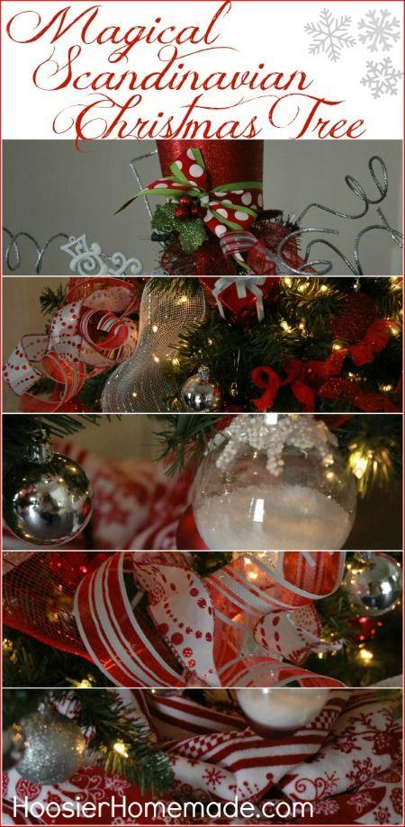 Magical Scandinavian Christmas Tree with DIY Ornaments and Picks :: Instructions on HoosierHomemade.com