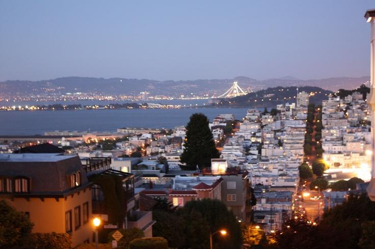 San Francisco at dusk. Wonderful city.