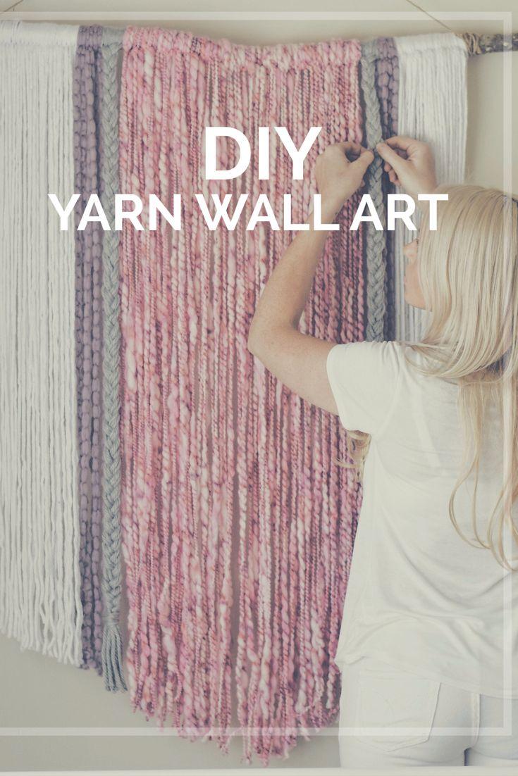 DIY Yarn Wall Art | wall hanging | macrame inspired | boho design| photo prop