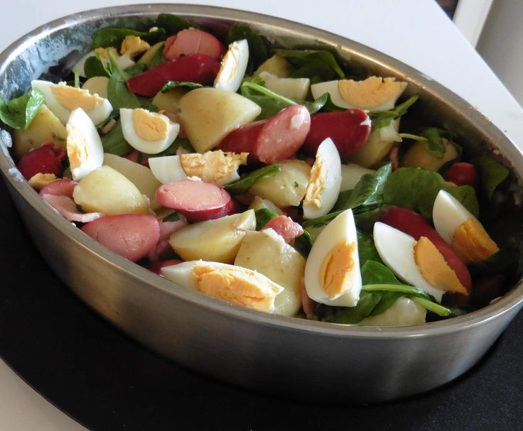 Recipe Warm Potato & Frankfurt Salad by SusanLouise - Recipe of category Main dishes - others