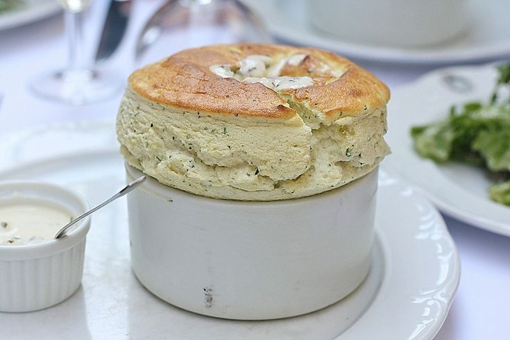 La Cigale Recamier specializes in souffles, like this asparagus one. www.girlsguidetoparis.com