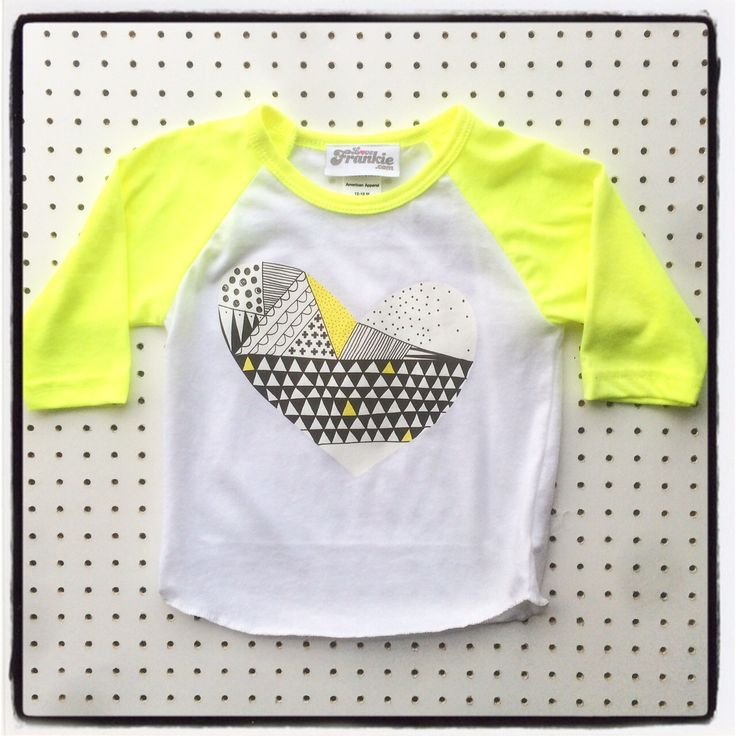 yellow heart baseball top 50% off #lovefrankie #gift #Christmas