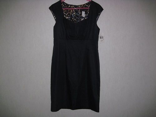 Connected Apparel Womens Dress Size 10 Cap Sleeve Zipper Back New With Tags #Connected
