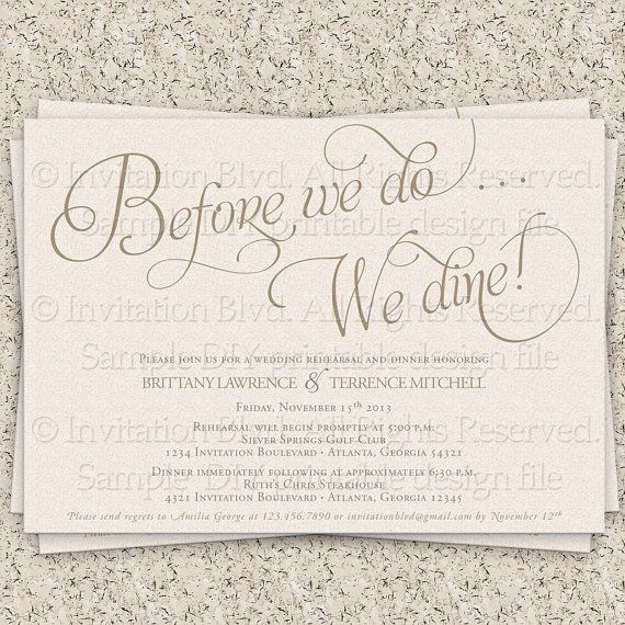 Rehearsal Dinner Invitation Rehearsal Dinner by InvitationBlvd, $10.99