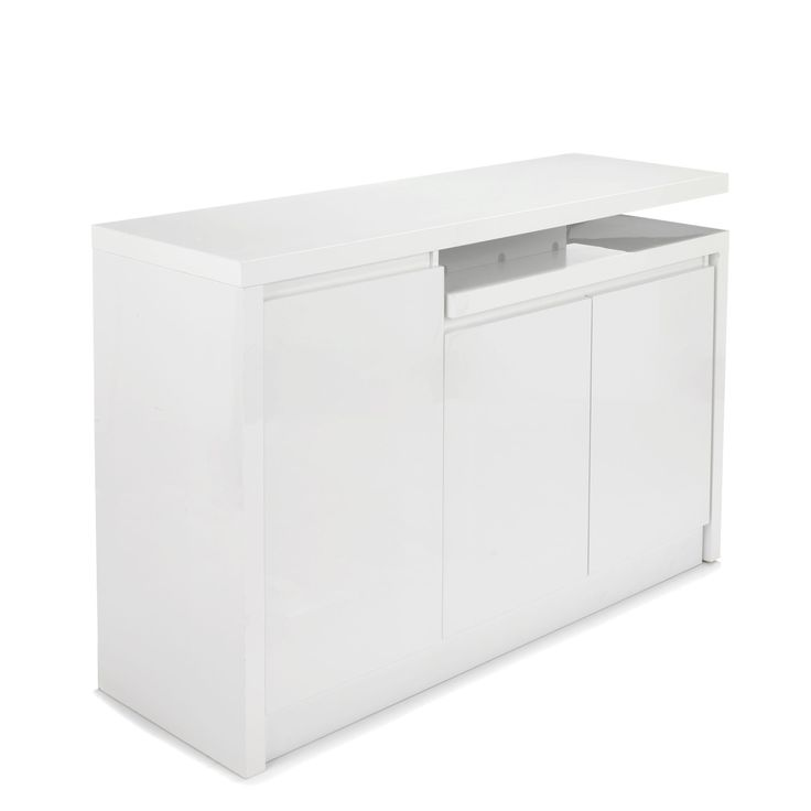 Les 25 meilleures id es de la cat gorie vaisselier blanc - Meuble rangement laque blanc ...