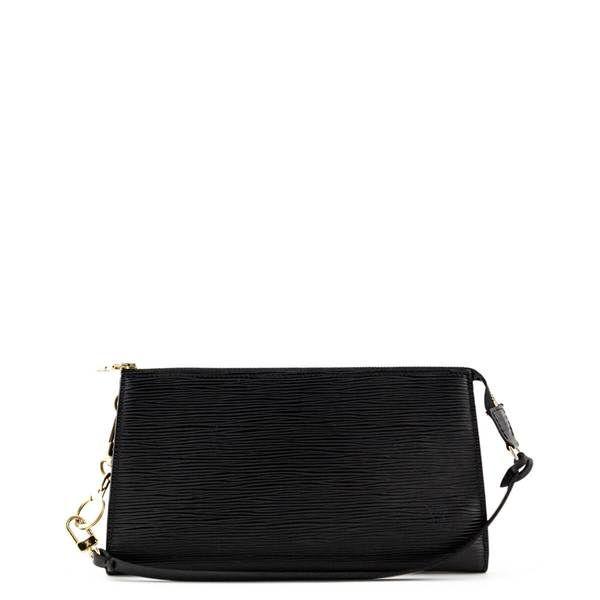 Louis Vuitton Black Epi Pochette Accessoires Love That Bag Preowned Authentic Designer Handbags Brighton Handbags Custom Purses Luxury Handbags
