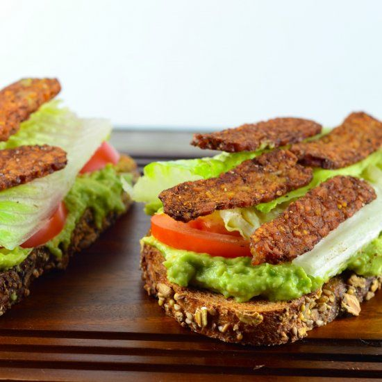 Vegan Avocado BLT Toast, trust us you will not miss the bacon !