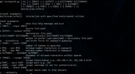 A simple worm that uses brute force and dictionary attacks through the network to infect vulnerable machines.