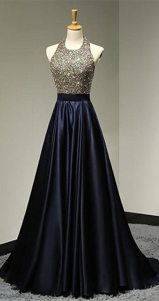 Halter Backless Beading Prom Dress,Long Prom Dresses,Prom Dresses,Evening Dress, Prom Gowns, Formal Women Dress