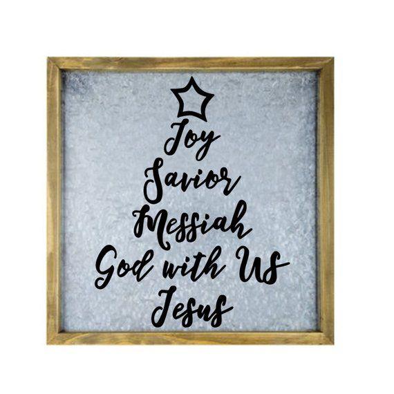 Jesus Joy Christmas Tree Svg Digital Download Christmas Etsy