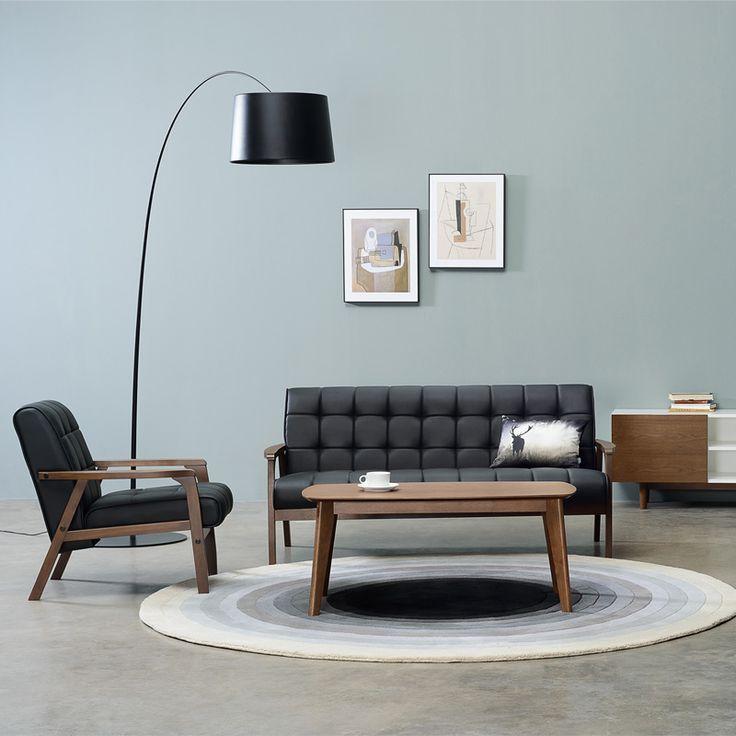Furniture Online Thailand ช้อปปิ้งออนไลน์ มินิมอล ลอฟท์สไตล์ เรโทรสไตล์ เฟอร์นิเจอร์:KIA NORDIC HOME ARMCHAIR (PU)