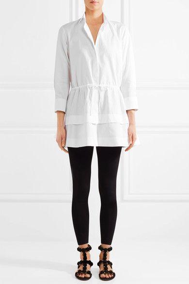 Alaïa - Tiered Cotton-poplin Shirt - White - FR44