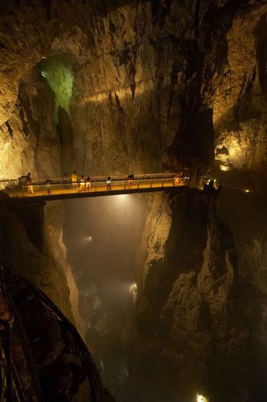 """Limestone caves at Skocjan, Slovenia---i would totally stand in the middle and yell """"you shall not pass"""""""