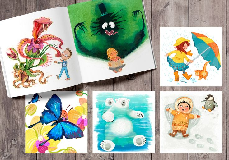 This portfolio page shows some of our current colour collective and animal alphabet art.