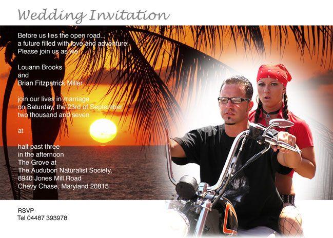 195 best harley davidson images on pinterest   harley davidson, Wedding invitations