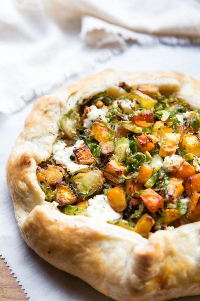 Butternut Squash and Brussels Sprout Galette Recipe with Goat Cheese ...