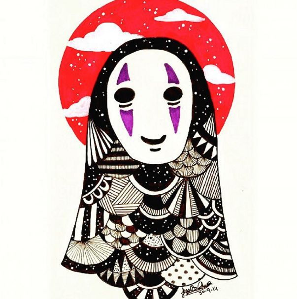 This cutesy No Face: | 23 Of The Most Gorgeous Pieces Of Miyazaki Fan Art