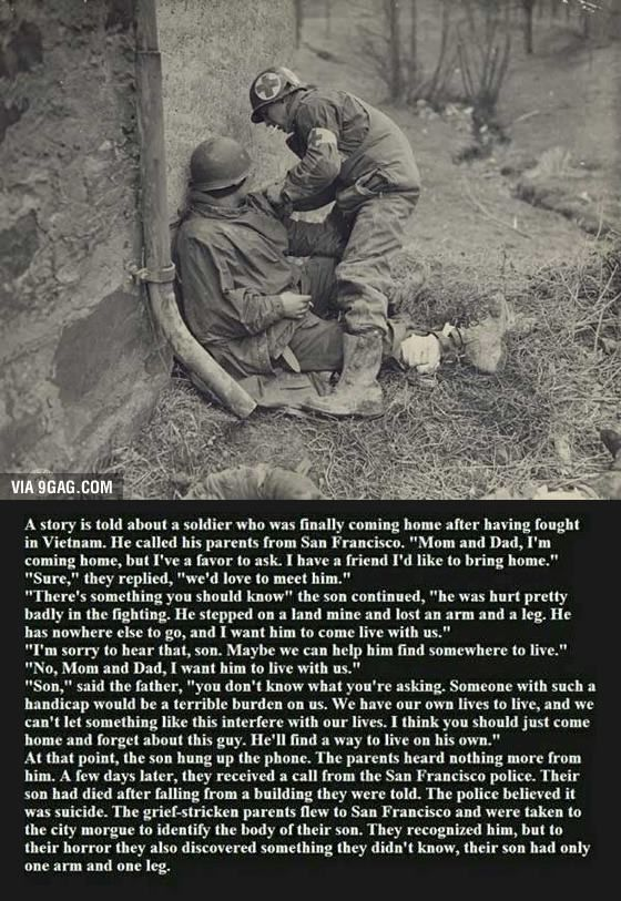 Whether or not this is a true story, it's really sad! i wanted to cry