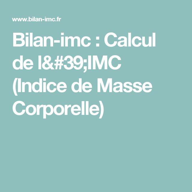 Bilan-imc : Calcul de l'IMC (Indice de Masse Corporelle)