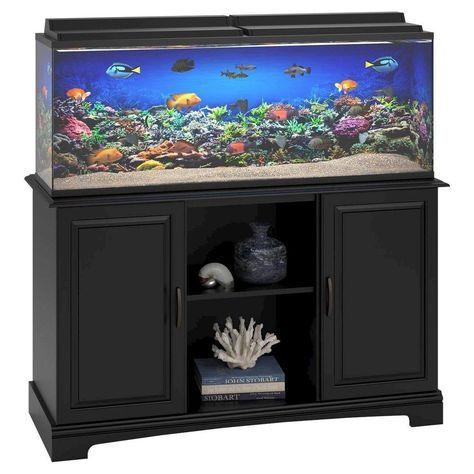 Harbor 50-75 Gallon Aquarium Stand - Black - Ameriwood Home