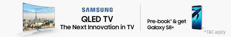 If you are looking for TVs featuring premium build, design, performance and the latest features, look no further. Amazon India brings you Samsung LED TVs in screen sizes such as 32 inches, 40 inches, 55 inches and more in HD ready, full HD, 4K Ultra HD resolutions at great prices. Pre-book and get GalaxyS8+. #amazon #india #amazon.in #Samsung #tv #offer
