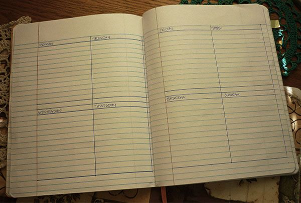 homeschool planner weekly page - could be a perfect solution for MPCA