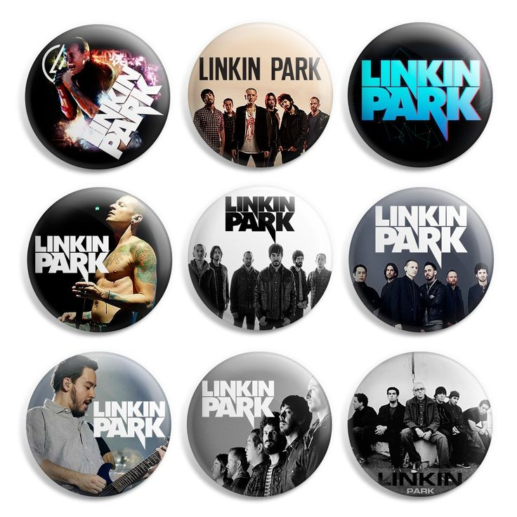 Linkin Park Pinback Button Pin Badge (Pack of 9)- 1 inch