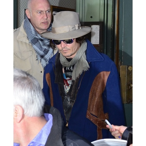 Johnny Depp was spotted in NYC on Monday night.