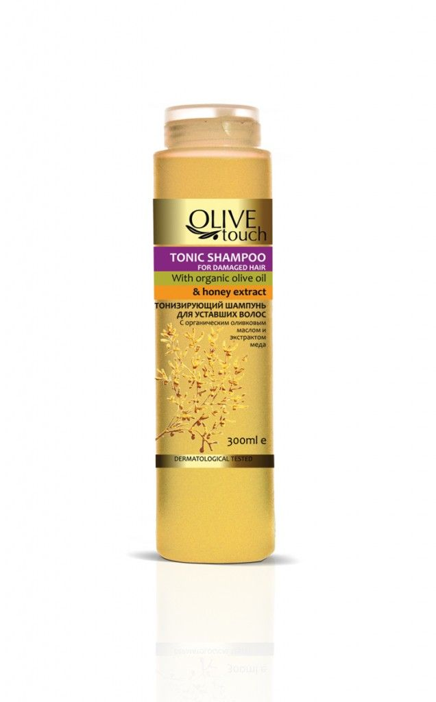 OLIVE TOUCH Tonic Shampoo with organic olive oil and Ηoney extract For Damaged Hair 300ml