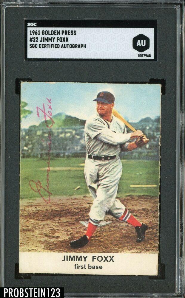 1961 Golden Press 22 Jimmy Jimmie Foxx Red Sox Hof Signed