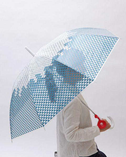 富士山を頭の上に。 富士傘(ふじさん) - まとめのインテリア / デザイン雑貨とインテリアのまとめ。