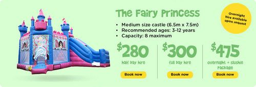 The Fairy Princess : Ben 10 - Funky Castles, Servicing Brisbane's North side with children's jumping castles, slushie machines, party lights, smoke machines, and various other party hire needs.  http://funkycastles.com.au/our-products/the-fairy-princess/ | emilybrooker24