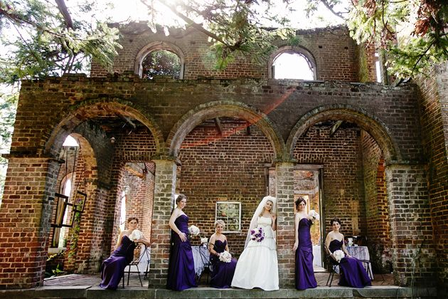 Nadia D shot this stunning real wedding at The Ruins at Barnsley Gardens in Adairsville, GA, featured by @BRIDES