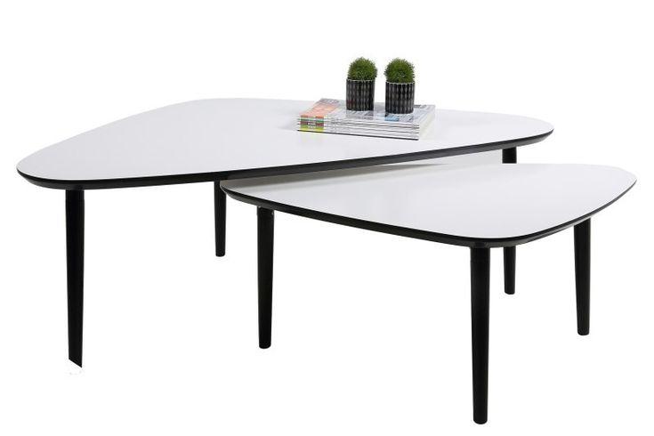 Design asimetric si stil modern intr-un set de masute desoebit pentru livingul tau. #domedesign #coffeetable #somproduct