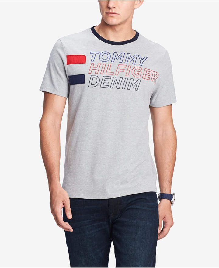 Tommy Hilfiger Men S Logo Graphic T Shirt Created For Macy S T Shirt Tommy Hilfiger Man Mens Tshirts