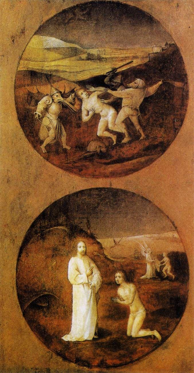 Mankind Beset by Devils (reverse of Noah panel) - Hieronymus Bosch