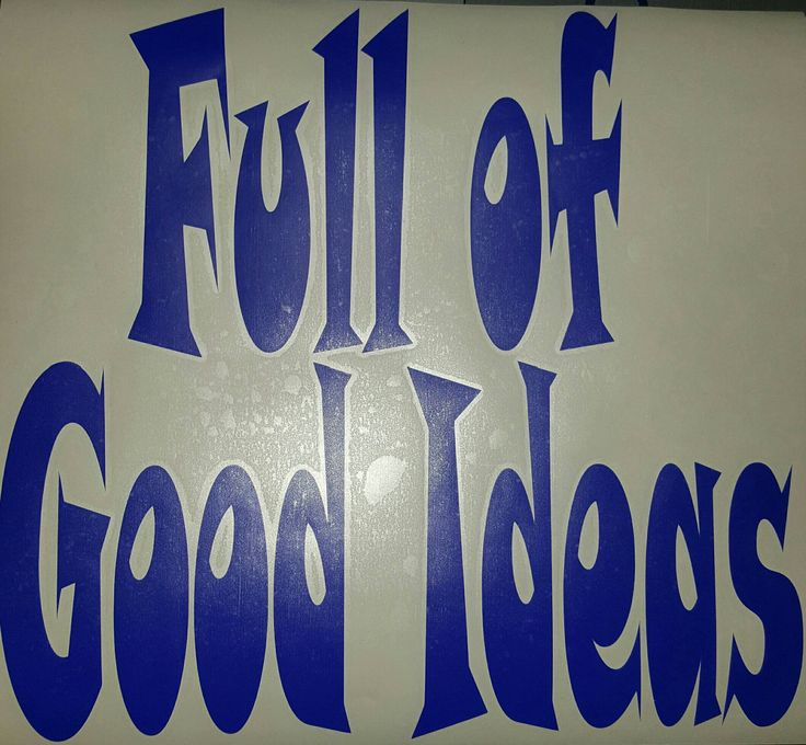 Full of Good Ideas Decal, Cooler Decal, Yeti Decal, RTIC Decal, Beer Fridge Decal, Funny Decals, Refrigerator Sticker, Cooler Sticker by HappyCraftin on Etsy
