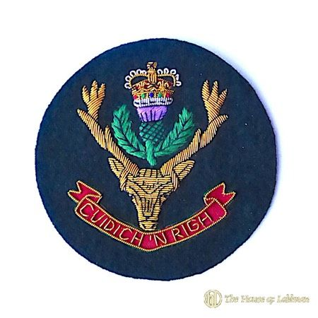 queens own highlanders pipe majors insignia badge