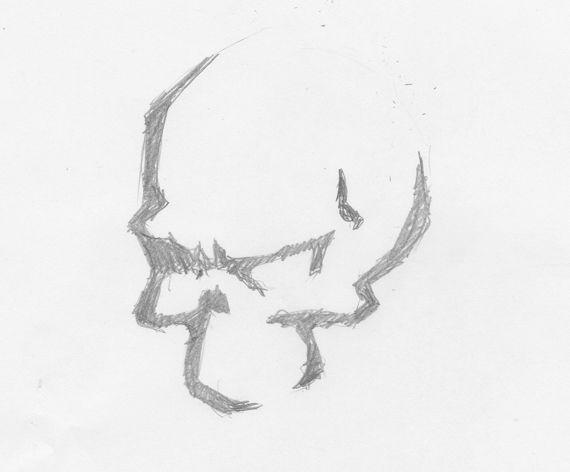 8 best drawings of skulls images on pinterest easy skull for Best and easy drawings