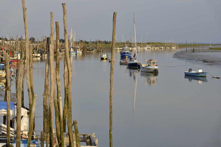 Port de l'Aiguillon sur Mer. Bateaux ©Pascal Baudry pour Sud Vendée Tourisme. Plus d'info : www.sudvendeetourisme.com