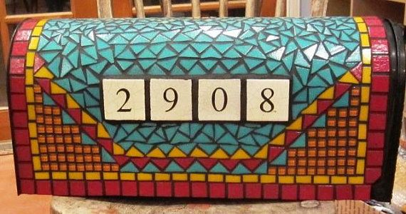 Mosaic Mailbox Southwestern design by MosaicMailbox on Etsy