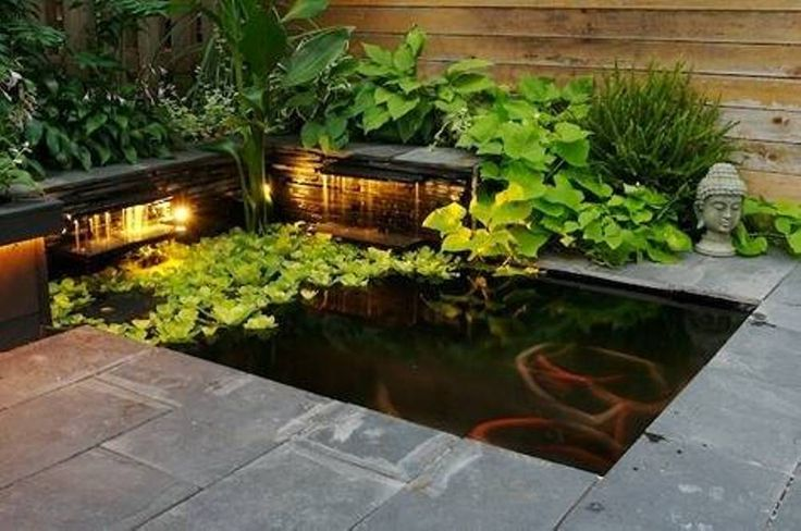 18 best images about front porch on pinterest for Square fish pond
