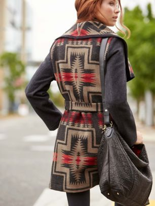 PENDLETON SIGNATURE BLANKET WRAP COAT