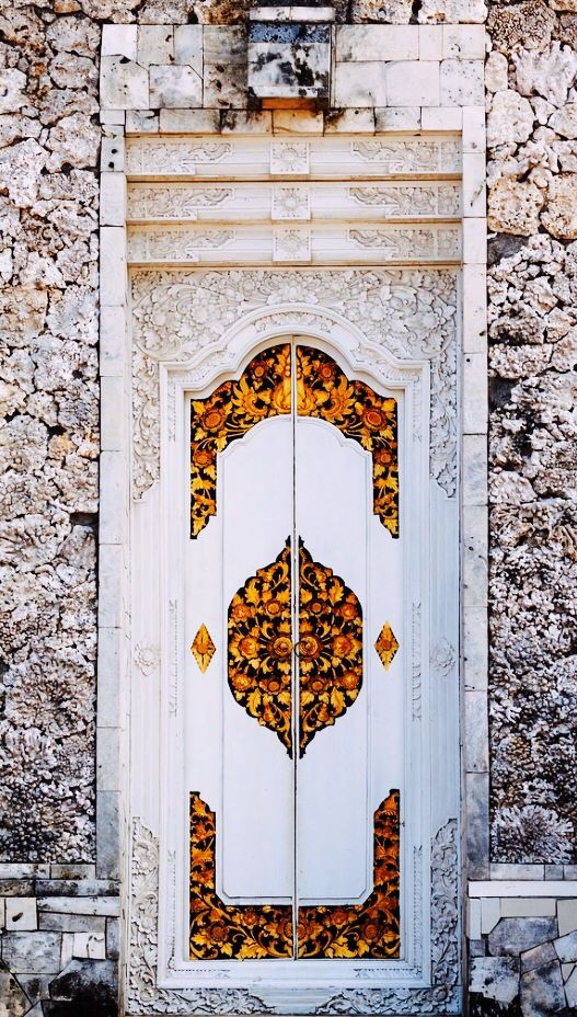 Bella says, every door has a story. Bali, Indonesia